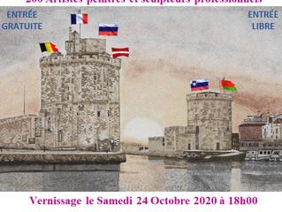 2020 - du 22.10 au 6 .11.SALON International d'Arts Plastiques de LA ROCHELLE Salle de l'Oratoire