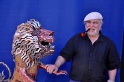 2017 Le lion face à l'artiste