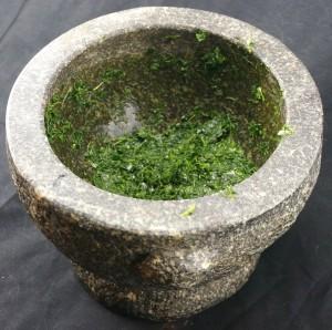 crushed kale