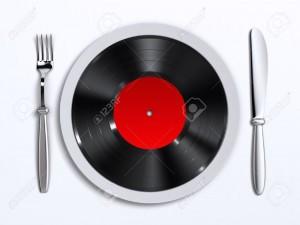 17306401-A-dish-with-vinyl-record-Stock-Photo-music-vinyl-food