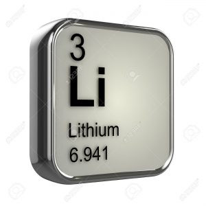 3d render of the lithium element from the periodic table