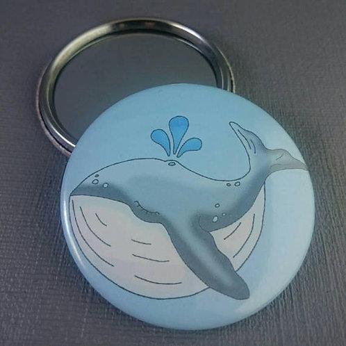 Wilbur the Whale pocket mirror
