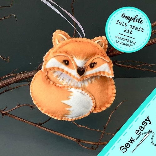 Sew your own Fox plushie sewing kit.