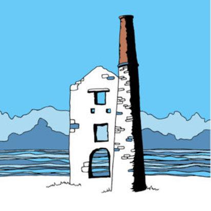Cornish Tin mine by the sea Card