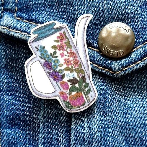 Meakin coffee pot pin brooch