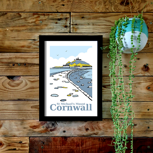 St Michael's Mount A4 or A3 UNFRAMED print