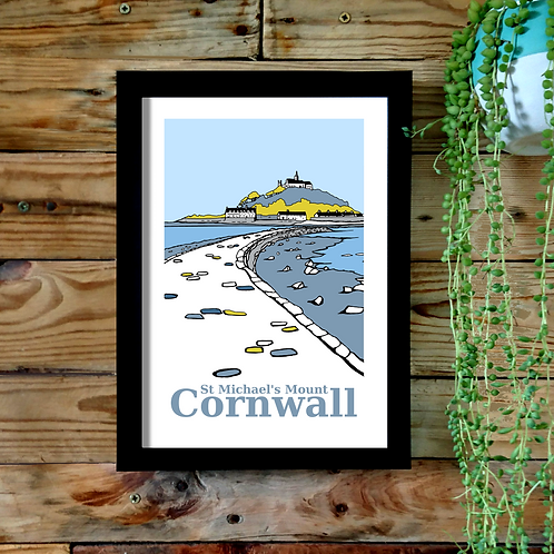 St Michael's Mount UNFRAMED A3 print