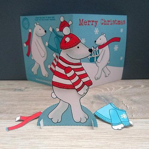 Christmas Bear activity card