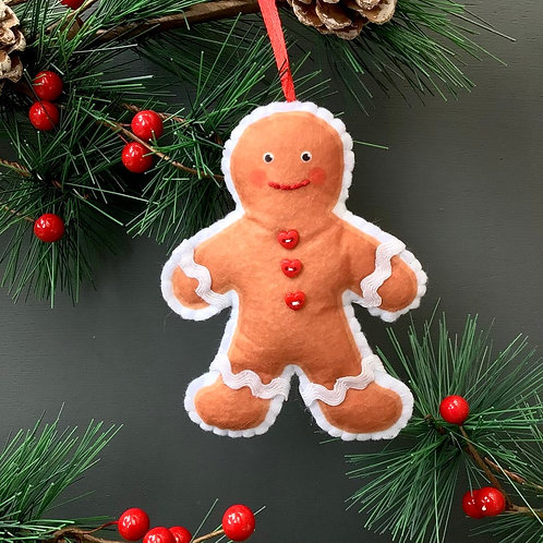 Sew your own Gingerbread man plushie sewing kit.