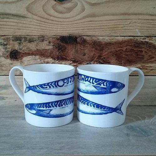 Bone China Mackerel mug