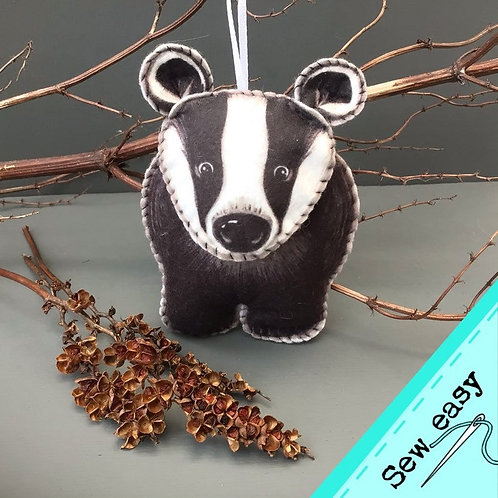 Sew your own Badger plushie sewing kit.