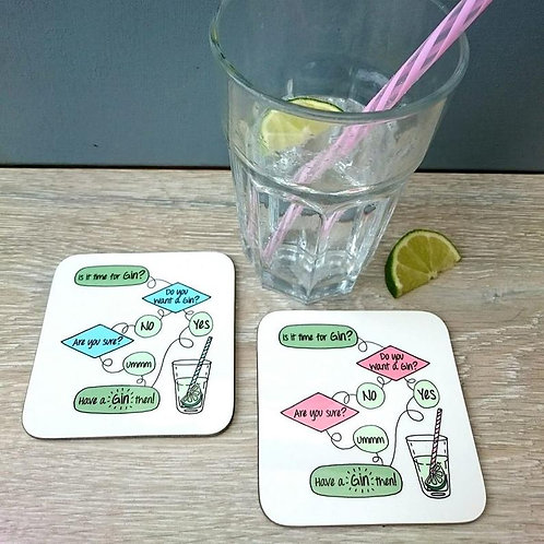 Gin flow chart  coaster