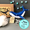 Thumbnail: Sew your own  Whale decoration (Large), plushie sewing kit.