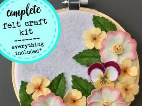 Summer Flower wreath/hoop DIY sewing kit