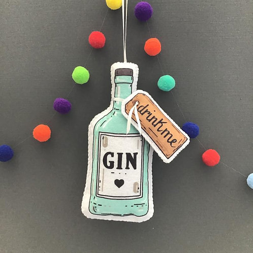 Sew your own Gin Bottle decoration, plushie sewing kit