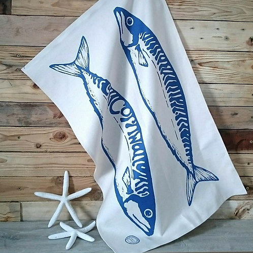 Giant Mackerel tea towel