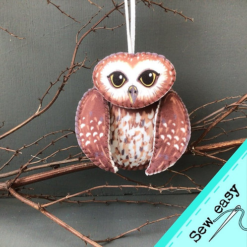 Sew your own Owl plushie sewing kit.