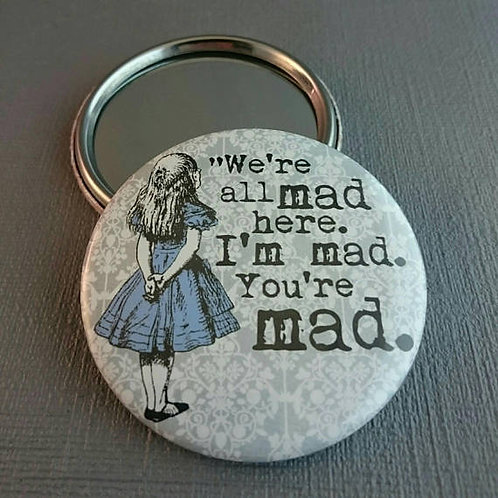 Alice in Wonderland pocket mirror