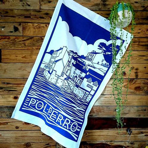 Polperro tea towel