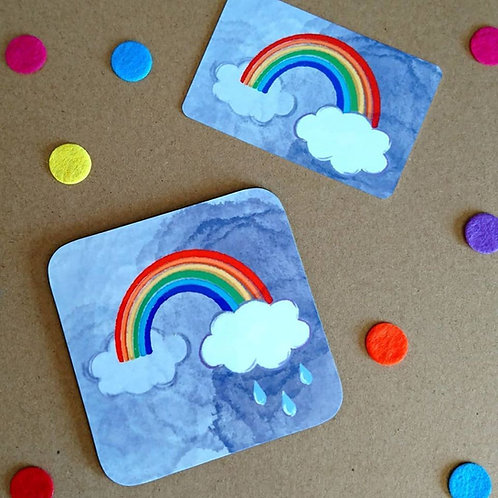 Rainbow coaster or fridge magnet