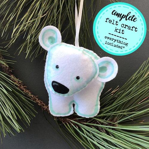 Sew your own Polar Bear plushie sewing kit.