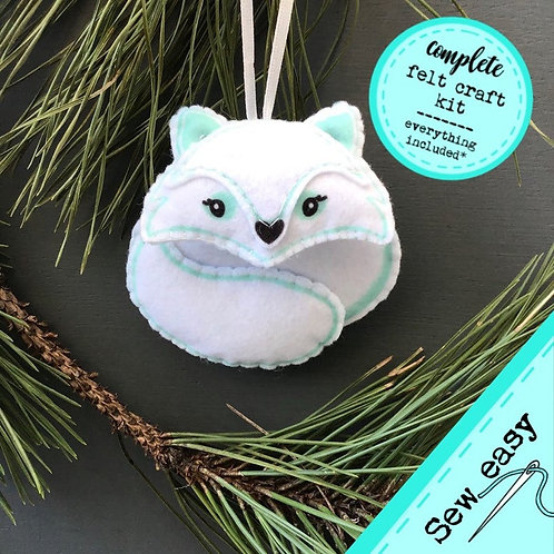 Sew your own Artic Fox plushie sewing kit.