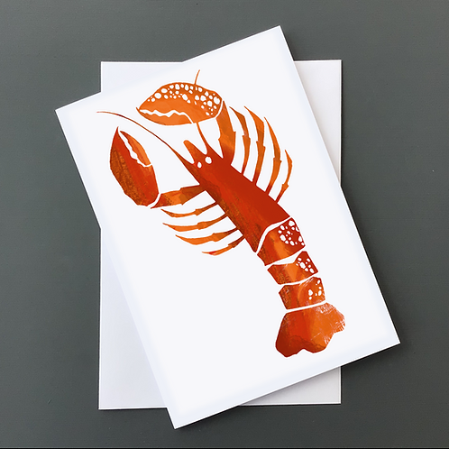 Cornish LobsterA5 card