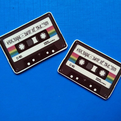 Mix tape 80s 90s  pin brooch