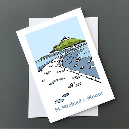 St Michael's mount A5 card