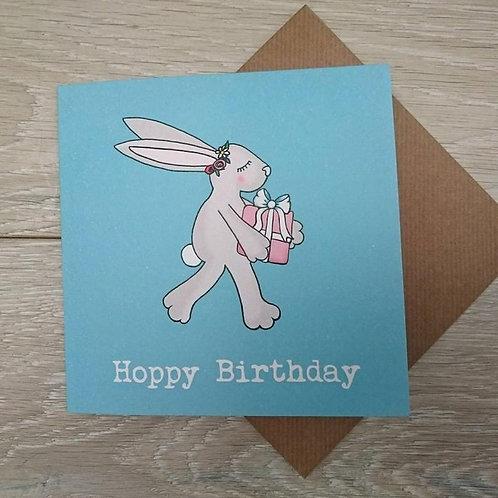 Hoppy Birthday activity card