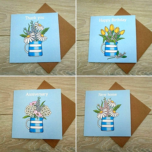 Cottage garden card set