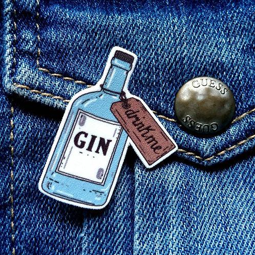Drink me Gin pin