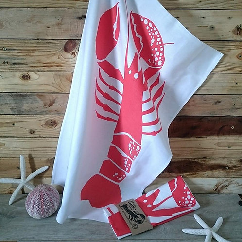 Cornish Lobster tea towel