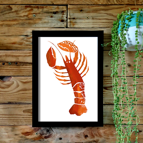 Cornish Lobster A4 or A3 UNFRAMED print