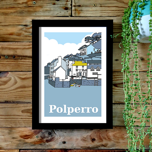 Polperro A4 or A3 UNFRAMED print