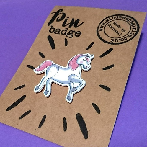 Unicorn pin brooch