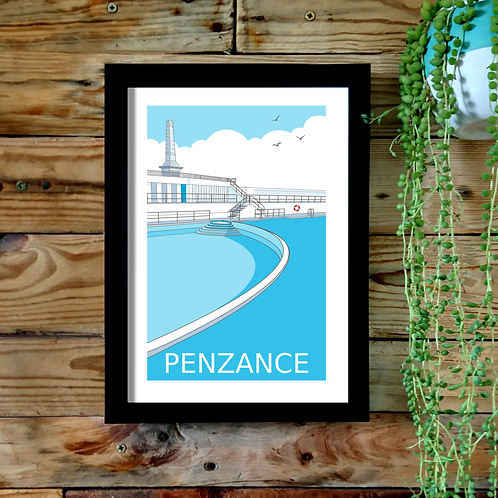 copy of Penzance Jubilee Pool A4 UNFRAMED print