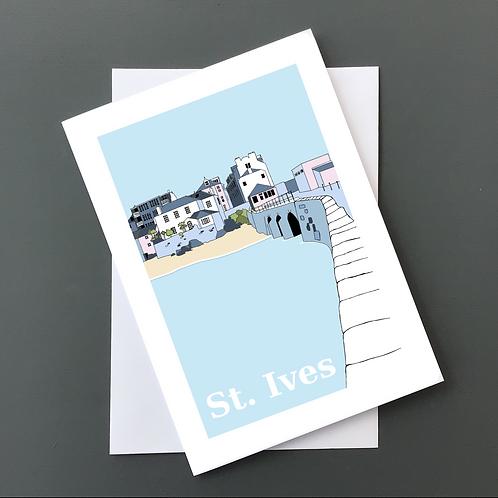 St Ives bridge A5 card