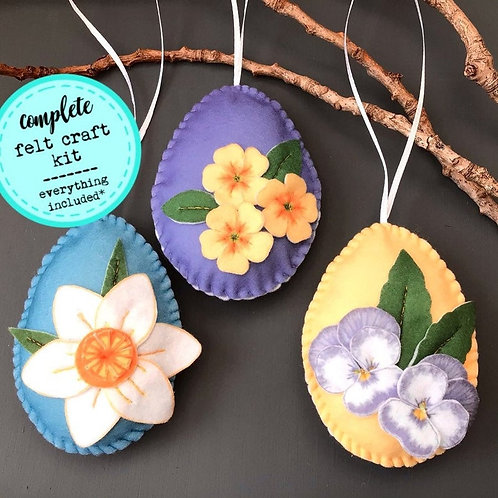 Sew your own Easter Egg decorations, plushie sewing kit.