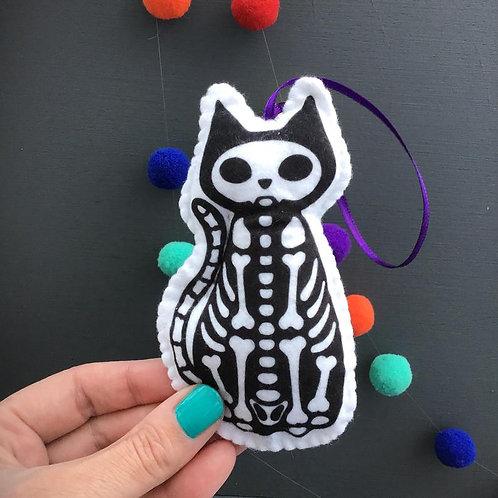 Sew your own skeleton cat plushie sewing kit.