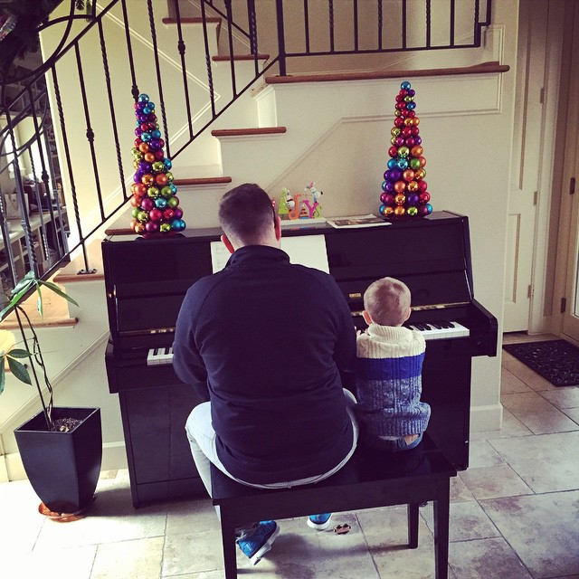Dad and Maximus on Piano