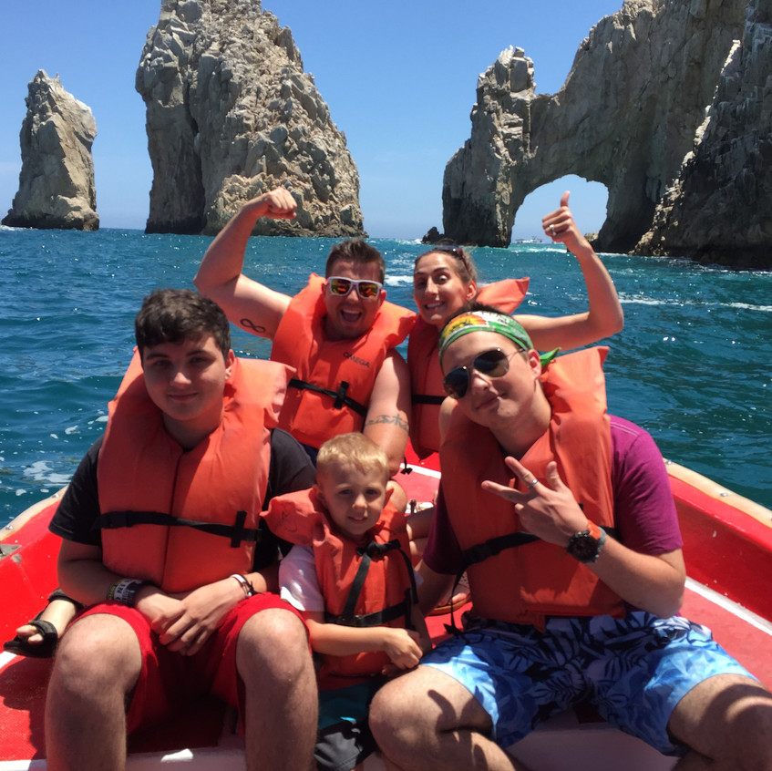 In Cabo on a boat