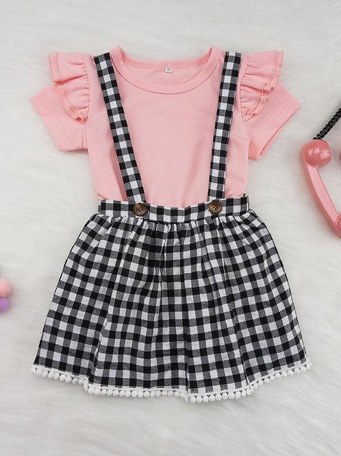 Suspender Skirt Set