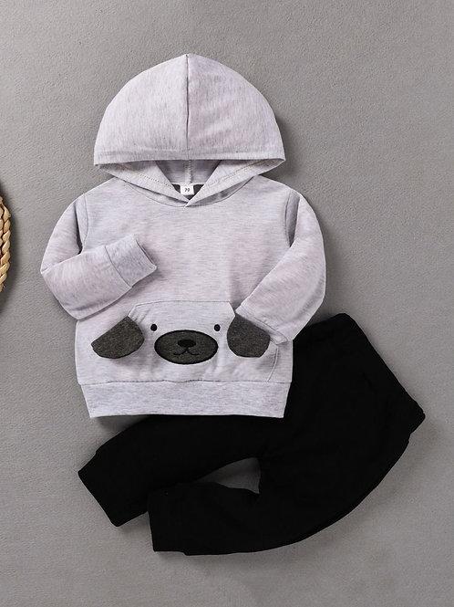 Grey Hoodie Set
