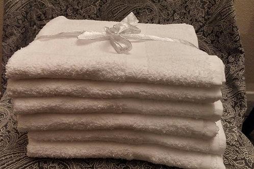 100% Premium White Cotton Bath Towels 24x50
