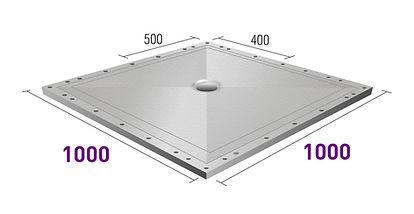 Hex-dec 1000x1000 wet floor former