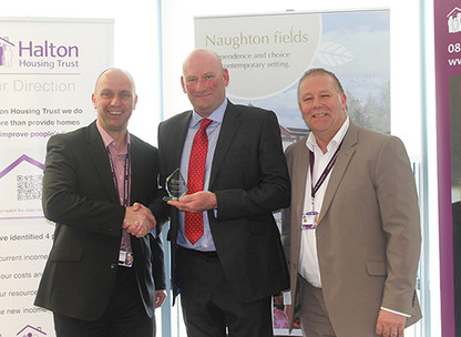 Halton Housing Trust gives Structec a special contribution award as long standing contractor