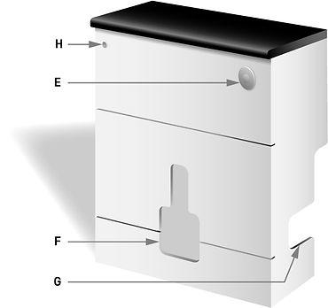 WC vanity unit illustration
