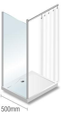 Elegance 500mm Glass panel diagram