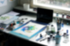 custom watercolor illustration, ecoline, artist life